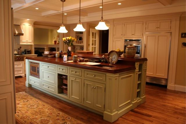 Painted Traditional Kitchen