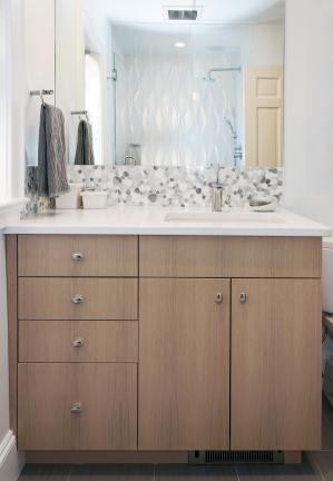 Modern Bathroom Vanity in Newton MA
