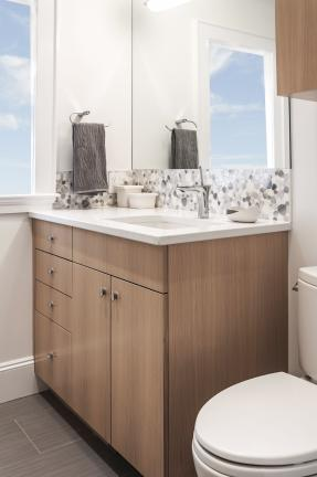 Beautiful Contemporary Bathroom Cabinet in Newton MA
