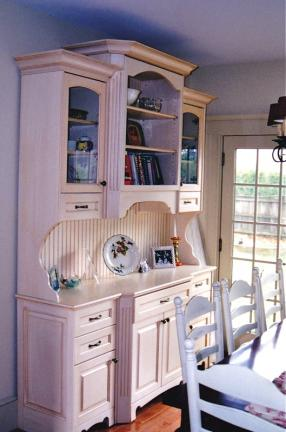French Country Glazed Hutch