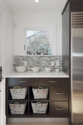 Contemporary Kitchen Storage Nook