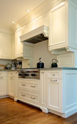 European Painted Kitchen Cabinet