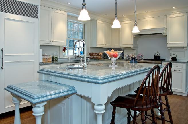 European Painted Kitchen Cabinet